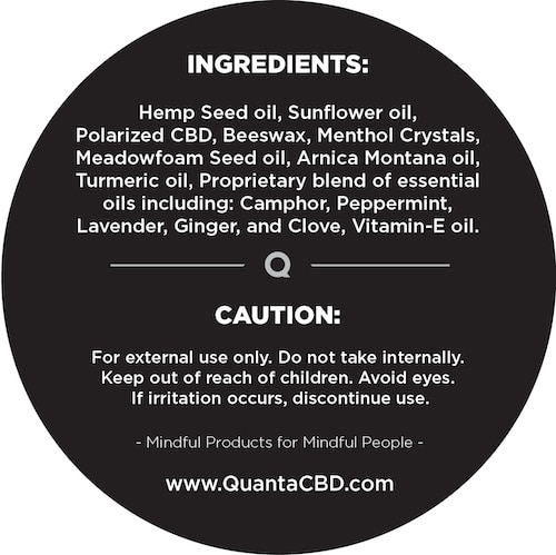 Quanta Muscle Rub Ingredients List